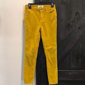 Free People ( We The Free) raw hem mustard jeans
